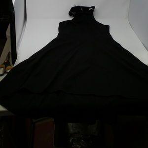 MUSHARE Women's Halter Neck Low Backless Dress